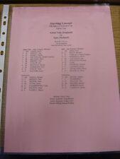 23/07/1999 Colour Teamsheet: Gotham Cup Semi-Final - Aston Villa v Ajax [In New