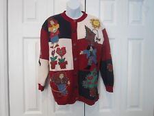 VTG Susan Bristol Autumn Fall Harvest Back To School Teacher Cardigan Sweater M