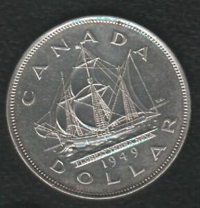 CANADA 1 DOLLAR 1949 SILVER