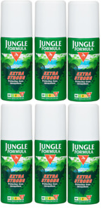 Jungle Formula Insect Mosquitoe Repellent Spray Extra Strong 6x90ml  EXP JAN2021