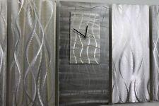 "Modern Abstract Metal Wall Art Clock ""Time Weaver Cinque"" by Jon Allen"