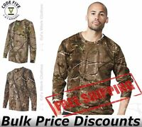 Code Five Mens Adult Realtree Camo Long Sleeve Tee 3981 up to 3XL
