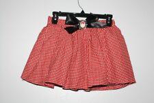 WOW~ DISNEY PARKS sz XL 10 12 GIRLS MINNIE MOUSE SKIRT RED POLKADOT BROOCH CUTE