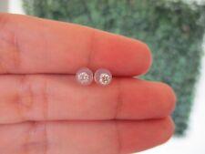 ".20 CTW Diamond Stud Earrings 18k White Gold E366 / E1 sep ""SP"""