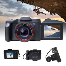 Digital Camera Vlogging Camera Full HD 1080P with Wide Angle Lens Flip Screen US