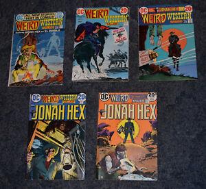 DC COMICS WEIRD WESTERN TALES JONAH HEX ISSUES 13,15,17,18 & 19 (1973)