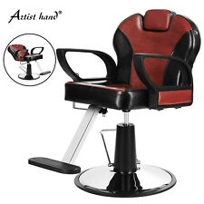 Black+Red Reclining Hydraulic Barber Chair Styling Salon Beauty Spa Equipment