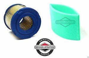 Genuine Briggs & Stratton 393957 Air Filter & 271794 Pre Filter OEM