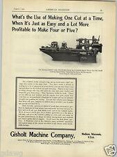1902 PAPER AD Gisholt Machine Co Lathe Madison Wisconsin Wells Bros Taps Tap
