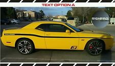Dodge Challenger Side Stripes Spike 2011-16 Decals Side Rally Racing Custom Text