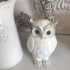 Stunning shabby chic ceramic owl ornament shelf sitter home decor  (Small)