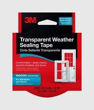 "New! 3M Transparent Weather Sealing Tape 2110NA 1.5"" x 30' seals cracks Flexible"