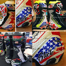 custom flag name decals designed to fit alpinestars supertech boots