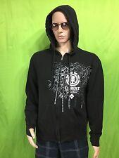 ELEMENT hoodie full zip stash pocket skateboarding skate . men's S / Youth Large