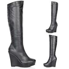 Unbranded High (3 in. and Up) Wedge Boots for Women