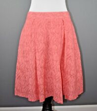 db5d61ba4 VINCE CAMUTO NEW $69 Pink Sheer Mesh Pleated Full Skirt Exposed Zip Size 10P