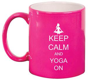 11oz Ceramic Coffee Tea Mug Glass Cup Keep Calm and Yoga On