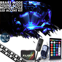 Music Active Harley Street Glide Motorcycle LED Accent Glow Kit w Power Switch