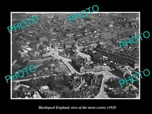OLD 8x6 HISTORIC PHOTO OF HARTLEPOOL ENGLAND VIEW OF THE TOWN CENTRE c1920 2