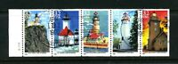 Scott #2973a - 32¢ Lighthouses of the Great Lakes  Booklet USED  Pane of 5