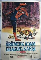 "Spider-Man And The Dragon's Challenge 1980 Original Turkish 27x39"" Poster - NrMt"