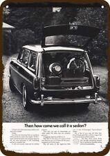 1968 VOLKSWAGEN SQUAREBACK STATION WAGON VW CAR Vintage Look Replica Metal Sign