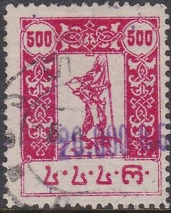 GEORGIA 1923 500r HAND SURCHARGED 20,000 USED SG44
