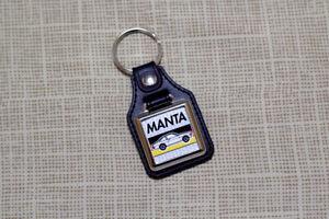 Opel Manta Keyring - Leatherette & Chrome Keyfob