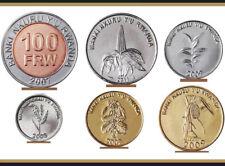 2011 Rwanda ORCHIDACEOUS DENDROBIUM SECUNDUM /& VANDA TRICOLOR Silver Pr Coin SET