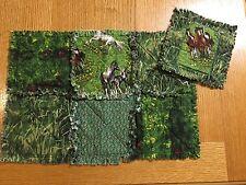 2-Handmade Wild Horse PlaceMats & Coaster Green Cotton Fabric Rag Quilt Design