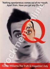 Robbie Williams Q Magazine Advert