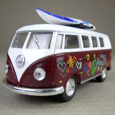 1962 Volkswagen Classic Kombi Combi Microbus Hippy Surfer Van Surfboard Maroon