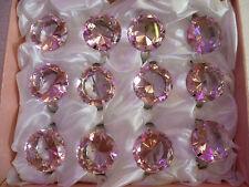 12 Rose Mariage Fiançailles cristal anneau de diamants serviette titulaire parti est favorable à 40mm