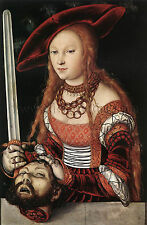 CRANACH Lucas Elder Judith Head Holofernes artista quadro dipinto olio su tela