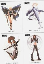MARVEL DANGEROUS DIVAS WOMEN OF MARVEL COMPLETE CHASE TRADING CARD SET , XMEN