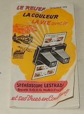 CATALOGUE 1974 Carte Stéréoscopique STEREOSCOPE LESTRADE 46 pages