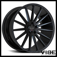 """20"""" GIANELLE VERDI GLOSS BLACK CONCAVE WHEELS RIMS FITS FORD MUSTANG GT"""