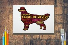 More details for golden retriever word art canvas a4 a3 a2a1 mothers day gift personalised option
