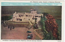 Cheyenne Lodge, Cheyenne Mountain, Colorado Springs, CO, Linen Postcard