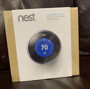 Nest 1st Generation Learning Silver Programmable Thermostat - FULLY SEALED!
