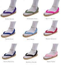 Demon Slayer Kimetsu no Yaiba 11 Roles Cosplay Shoes Flip Flops Clog +Free Socks