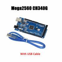 Nouvelle carte MEGA 2560 R3 ATmega2560-16AU ch340g avec câble USB pour Aduino