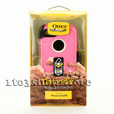 OtterBox Defender Rugged iPhone SE 5s 5 Case w/Holster Belt Clip Pink/White NEW