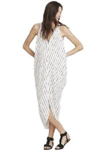 Hatch Maternity Women's THE AMIRA CAFTAN Ivory/Black Dress Size O/S (ONESIZE)NEW