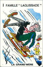 Luge SPORT PLAYING CARD CARTE À JOUER HUMOR HUMOUR 60s