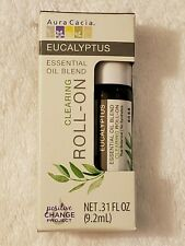 Aura Cacia Clearing Eucalyptus Essential Oil Blend Roll-On  0.31 fl oz (9.2 mL)
