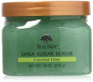 Tree Hut Coconut Lime 18 oz Shea Sugar Scrub Ultra Hydrating and Exfoliating