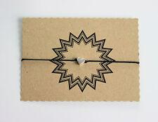 Herz Glücksarmband Glücksbringer Armband Tibet Silber Schwarz verstellbar 25 cm