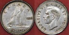 Very Fine 1938 Canada Silver 10 Cents