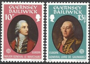 GUERNSEY 1980 EUROPA (2) Unhinged Mint SG 212-3